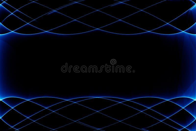 抽象黑色蓝色黑暗 向量例证