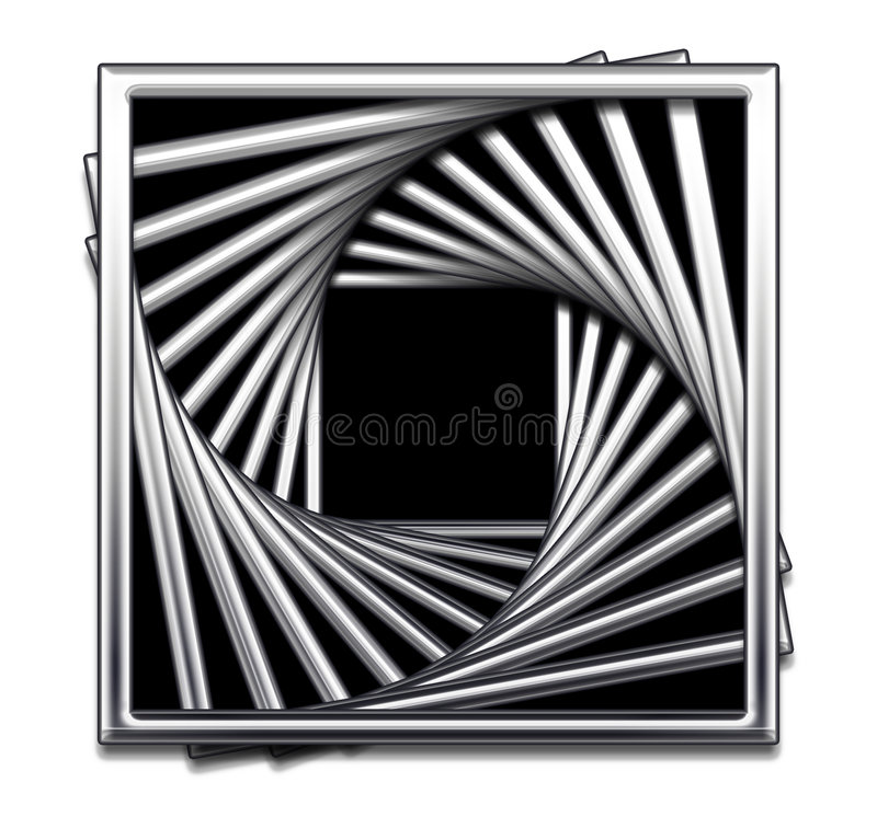 抽象黑色设计金属方形白色 皇族释放例证