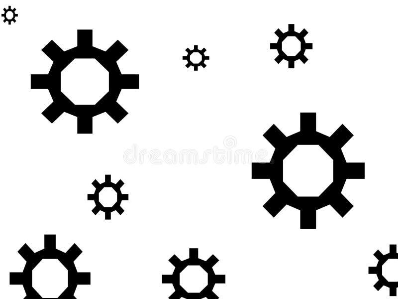抽象齿轮 免版税库存照片