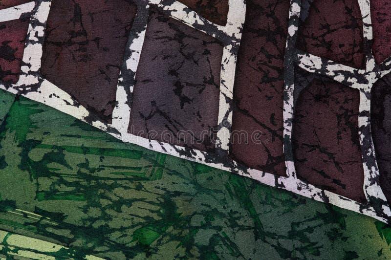 抽象,热的蜡染布,背景纹理,手工制造在丝绸 皇族释放例证