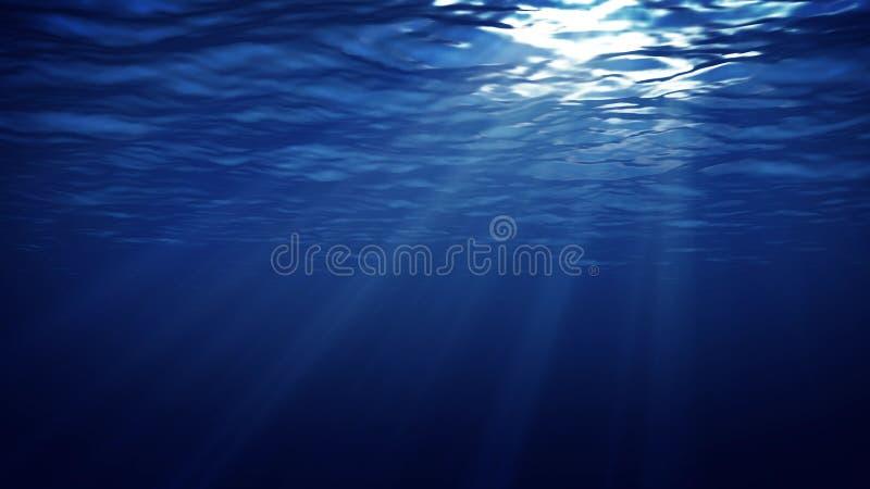 抽象水下的轻的背景 向量例证