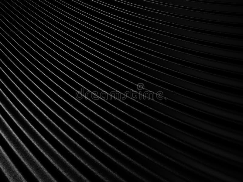 抽象黑布料挥动背景 向量例证