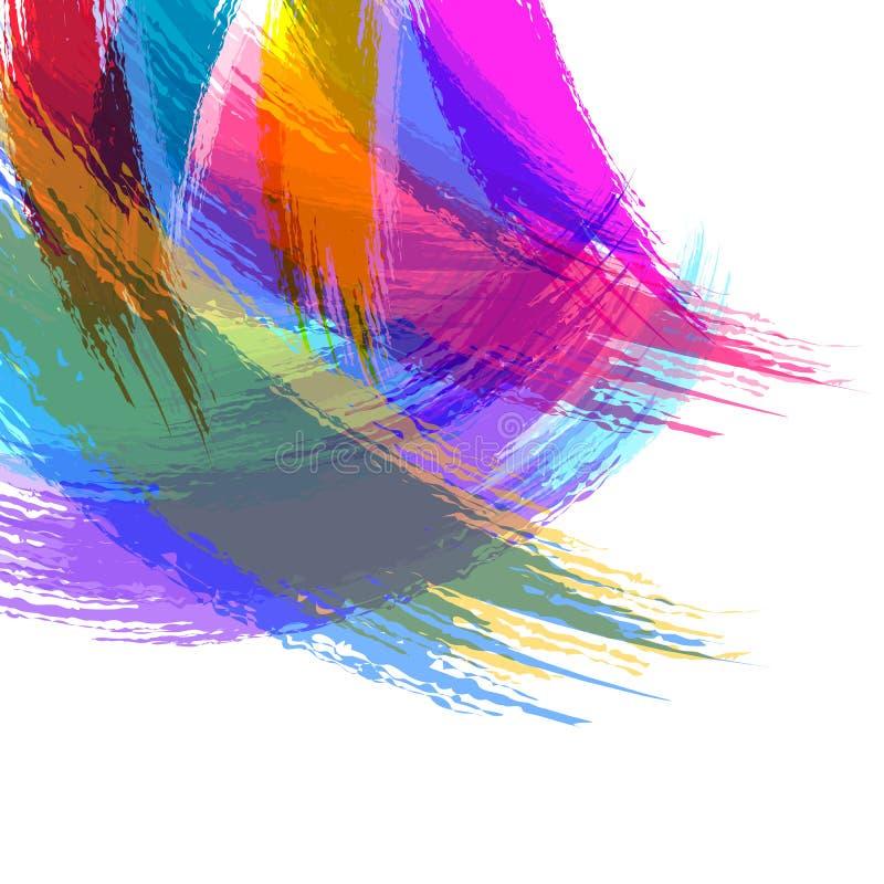 抽象水彩刷子冲程背景 库存例证