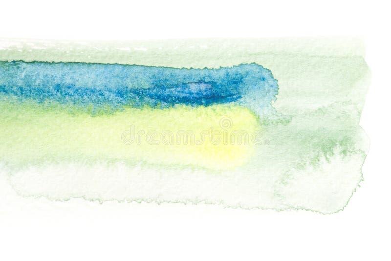 抽象水彩刷子冲程背景 向量例证