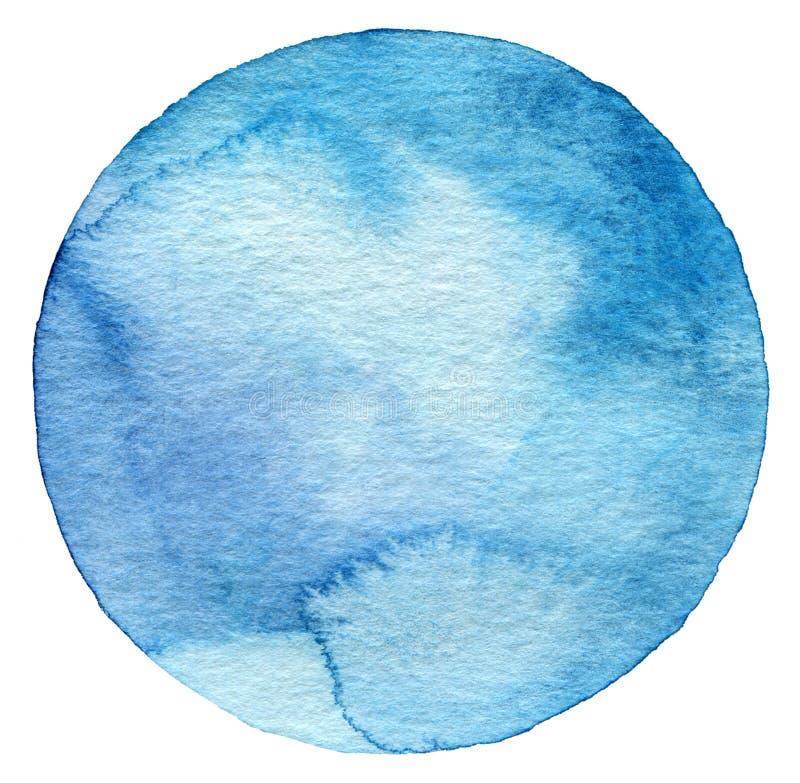 抽象水彩圈子被绘的背景 免版税库存照片