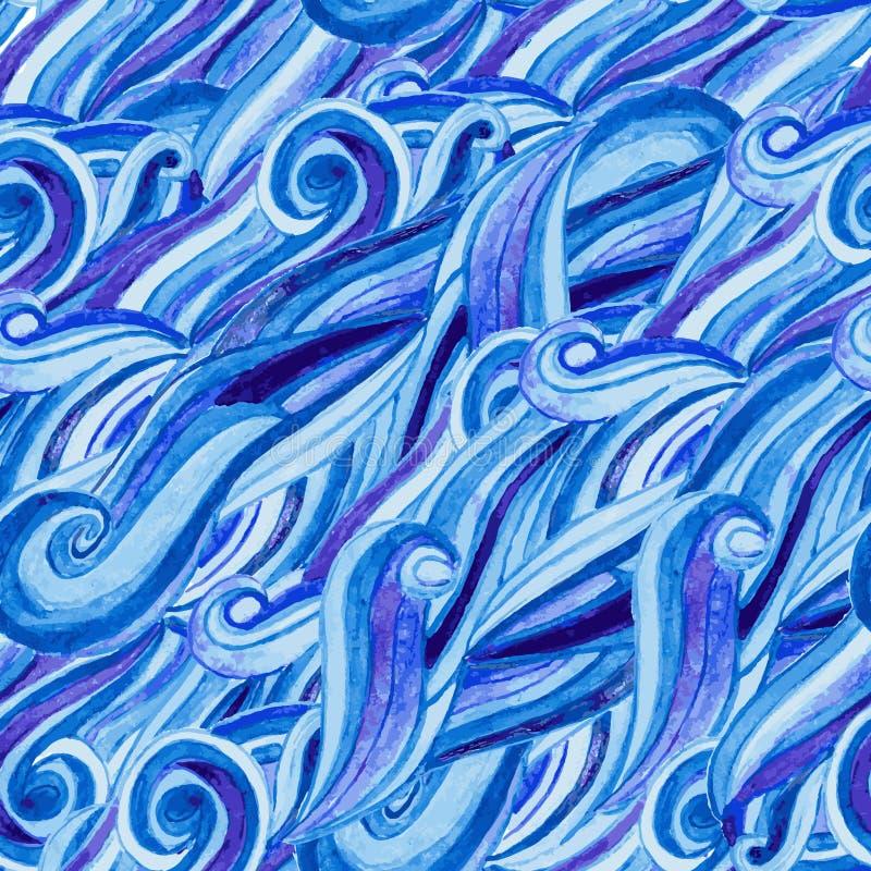 抽象水彩手拉的样式 免版税库存照片