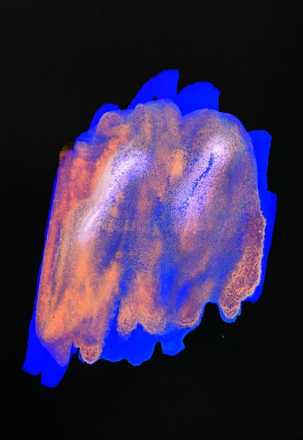 抽象水彩颜色绘画 库存图片