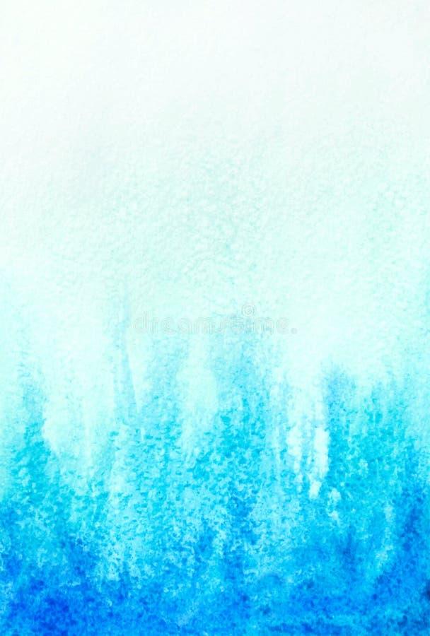 抽象水彩水色蓝色背景 皇族释放例证