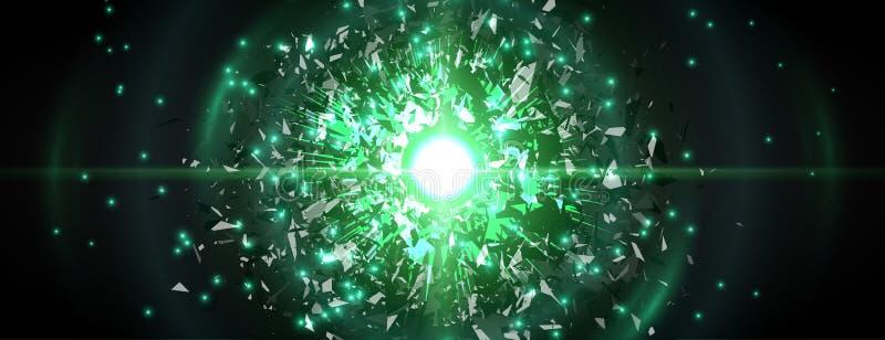 抽象黑微粒爆炸 向量背景 库存例证