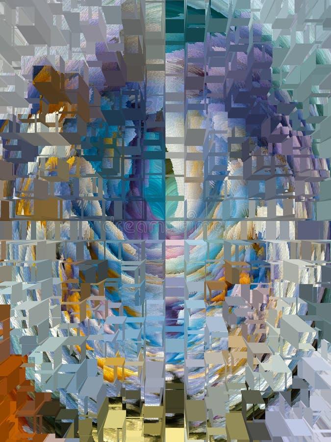抽象 摘要 纹理 织地不很细 唯一性 抽象 深奥 纹理 五颜六色 颜色 图形 图象 向量例证