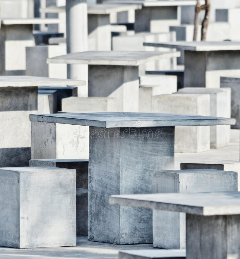 抽象派-方形的桌的样式 图库摄影
