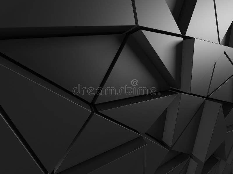 抽象结构上模式 Poligonal墙壁背景 皇族释放例证