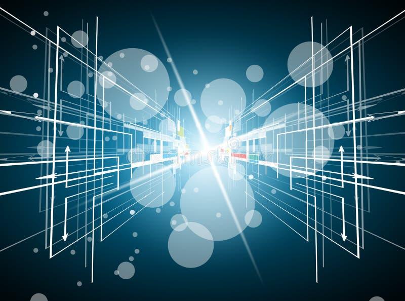 抽象结构电路计算机立方体技术企业bac 向量例证