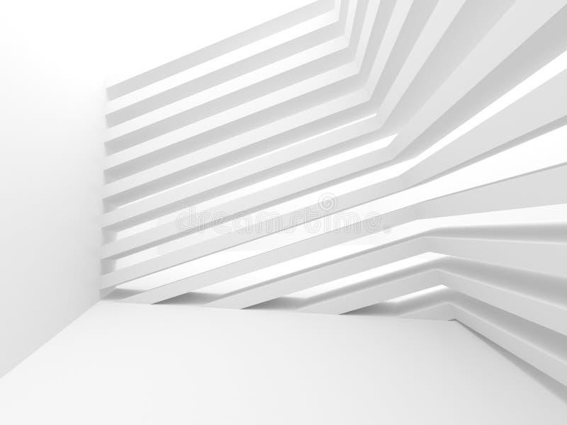抽象结构背景 空的白色未来派室 皇族释放例证