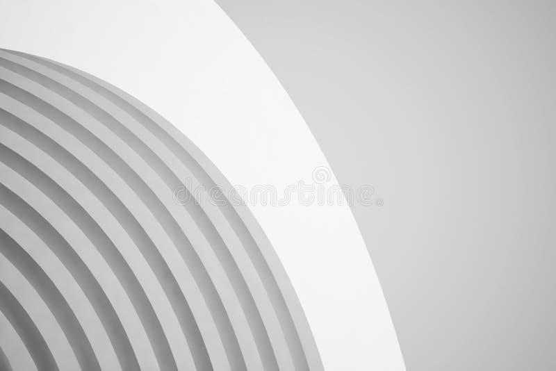 抽象结构背景 空的白色未来派室 3d例证回报 库存例证
