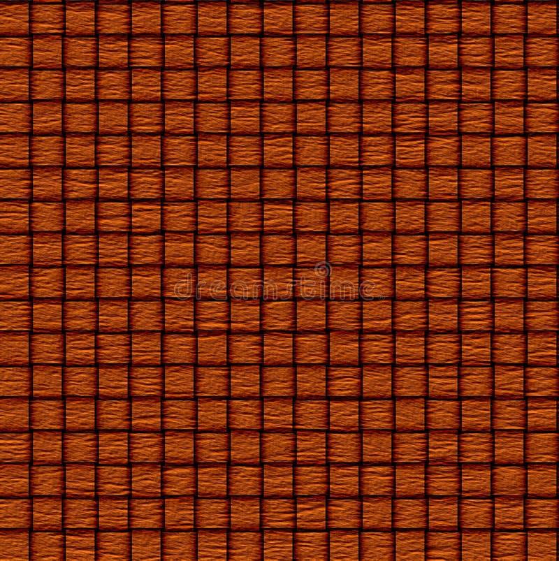抽象织法木头背景 库存例证