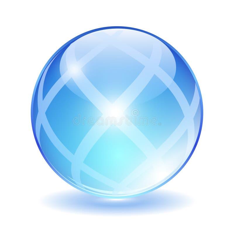 抽象玻璃球 皇族释放例证