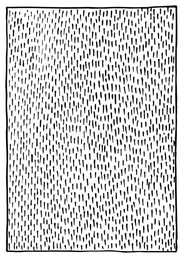 抽象黑白单色墨水冲程纹理背景传染媒介 库存例证