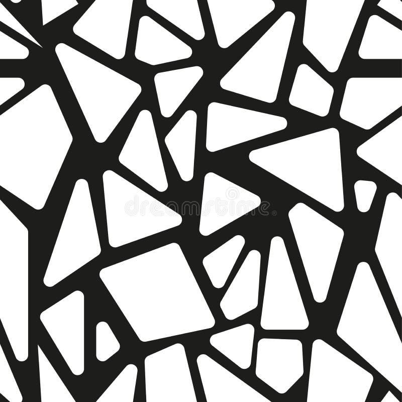 抽象黑白无缝的样式 皇族释放例证