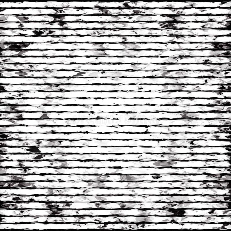 抽象黑白镶边难看的东西背景 库存例证