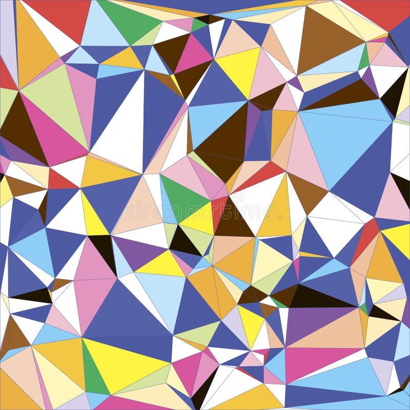 抽象轻的五颜六色的三角多角形几何背景 皇族释放例证