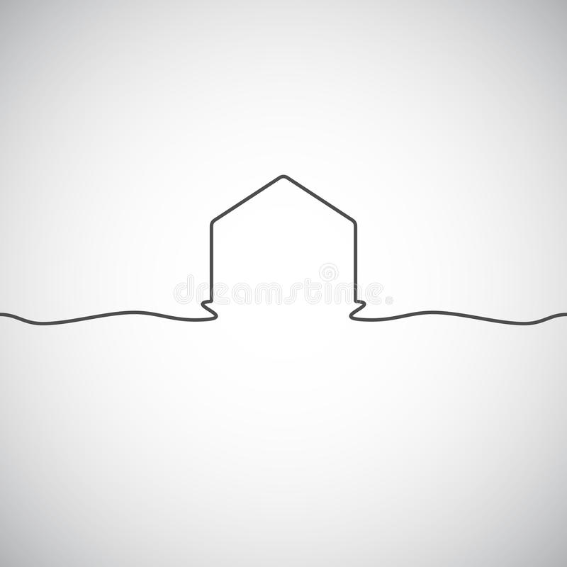 抽象建筑学大厦剪影商标设计模板 摩天大楼房地产企业题材象 皇族释放例证