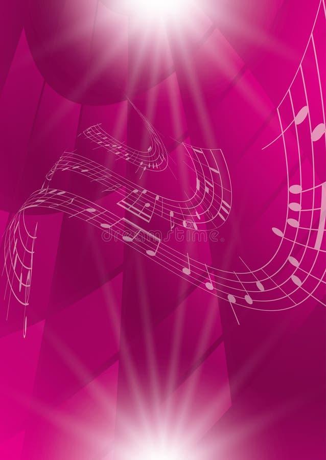 抽象绯红色音乐背景 皇族释放例证
