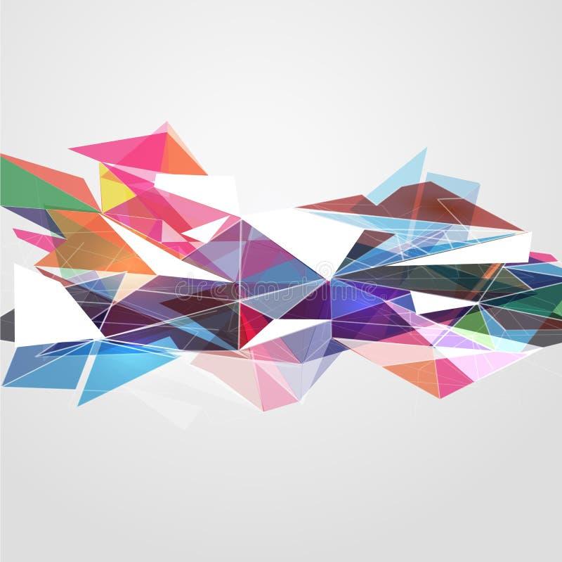 抽象滤网五颜六色与线模板、传染媒介&例证 库存例证