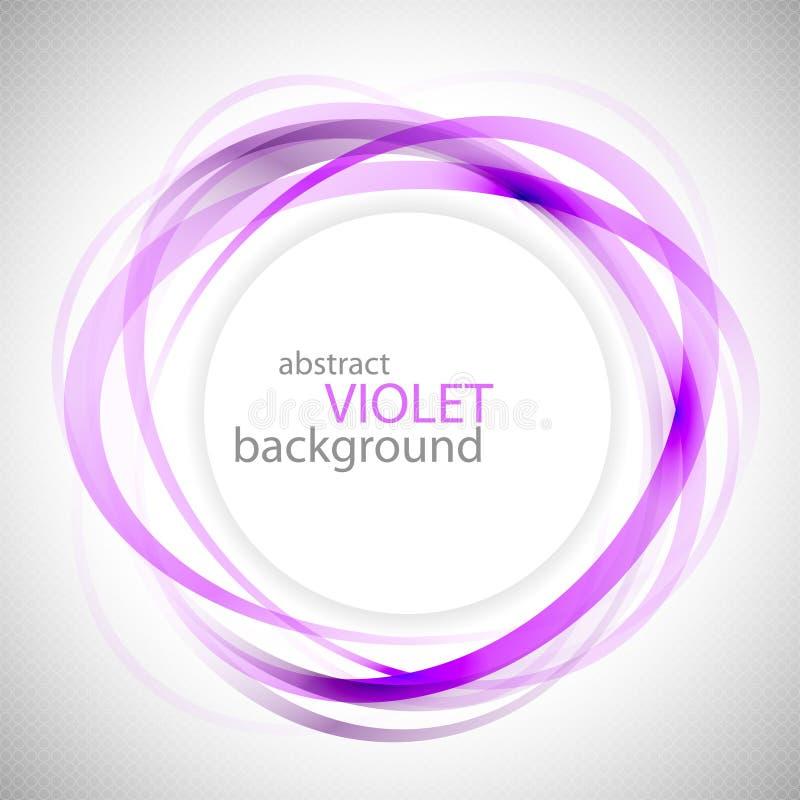 抽象紫罗兰色圆环传染媒介背景 库存图片