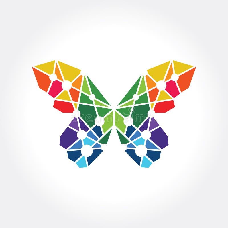 抽象黑脉金斑蝶概念 向量例证