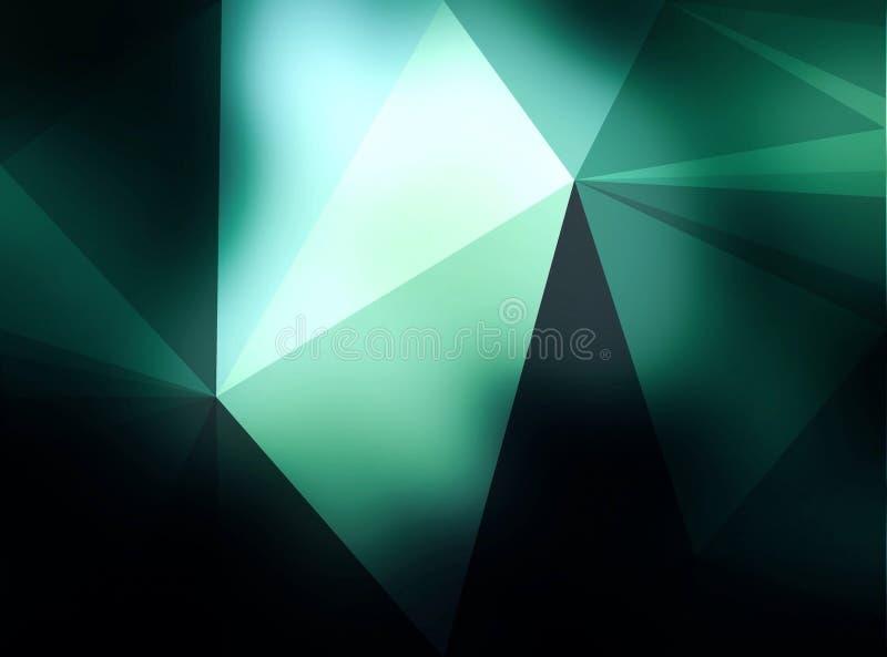 抽象绿色三角样式墙纸 皇族释放例证