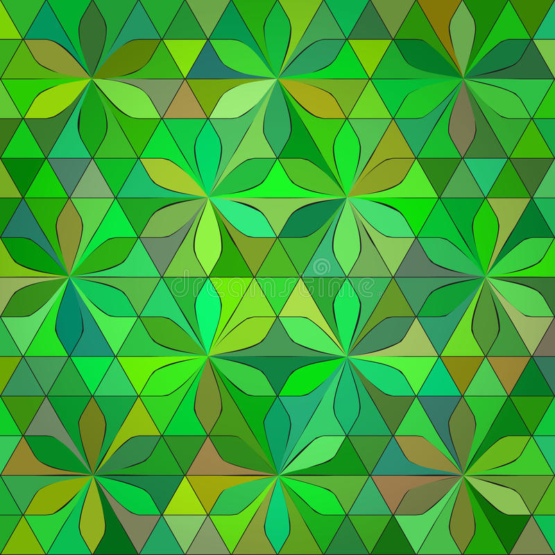 抽象绿色三角背景 向量例证
