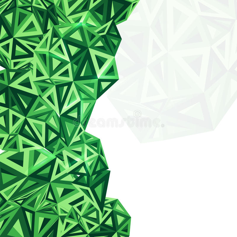 抽象绿色传染媒介背景 向量例证