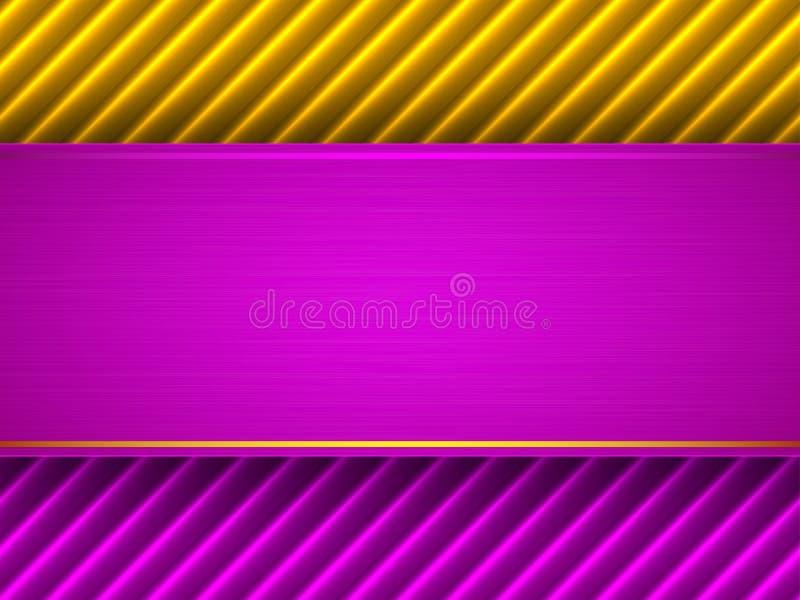 抽象紫色和黄色背景 库存例证