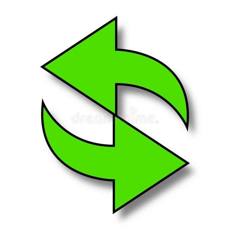 抽象绿色回收箭头 向量例证
