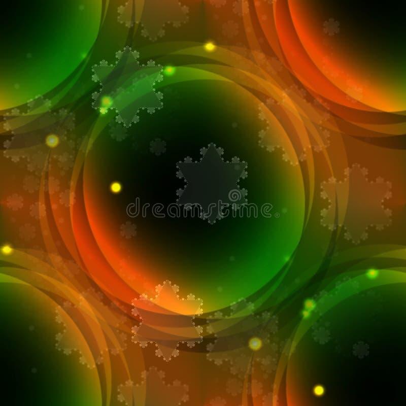 抽象绿色圈子背景 向量例证