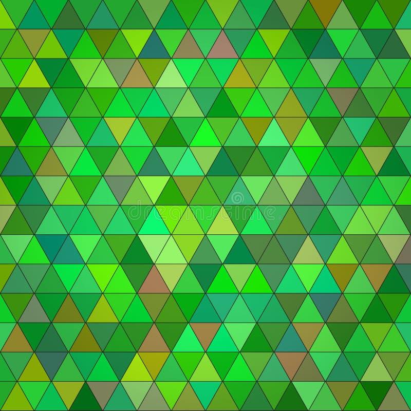 抽象绿色多彩多姿的三角背景 库存例证
