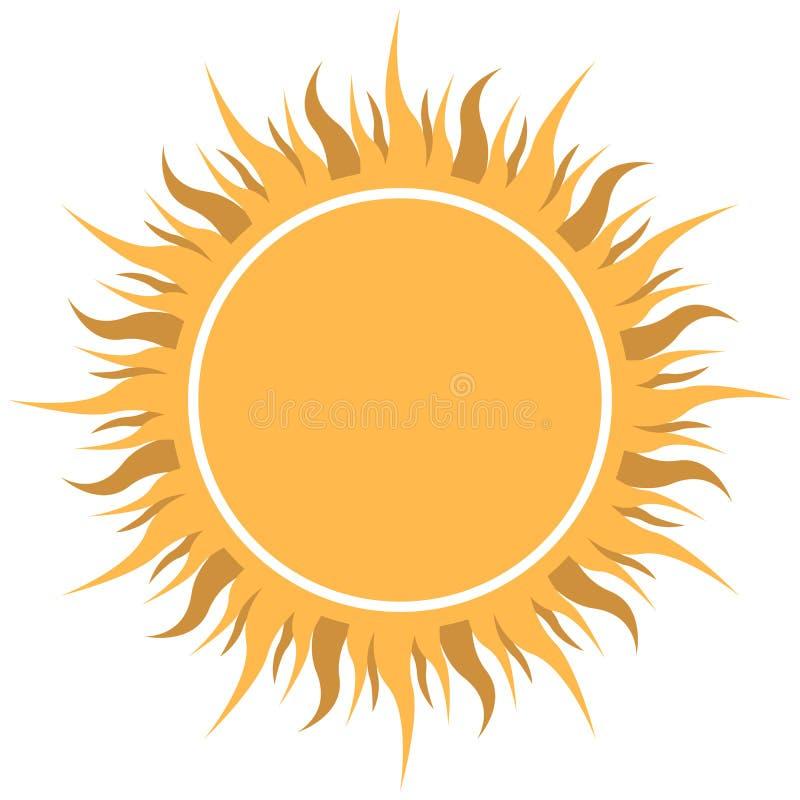 抽象黄色太阳 向量例证