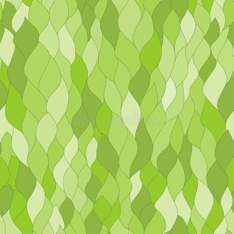 抽象绿色生叶无缝的纹理