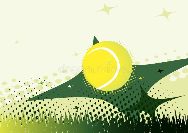 抽象绿色网球背景 库存例证