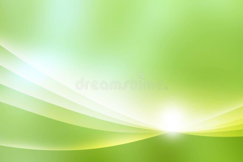 抽象绿色背景 皇族释放例证