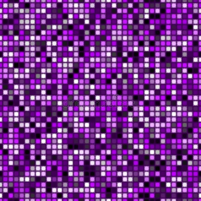抽象紫色锦砖样式,紫罗兰检查了纹理背景,淡紫色铺磁砖的无缝的例证 向量例证