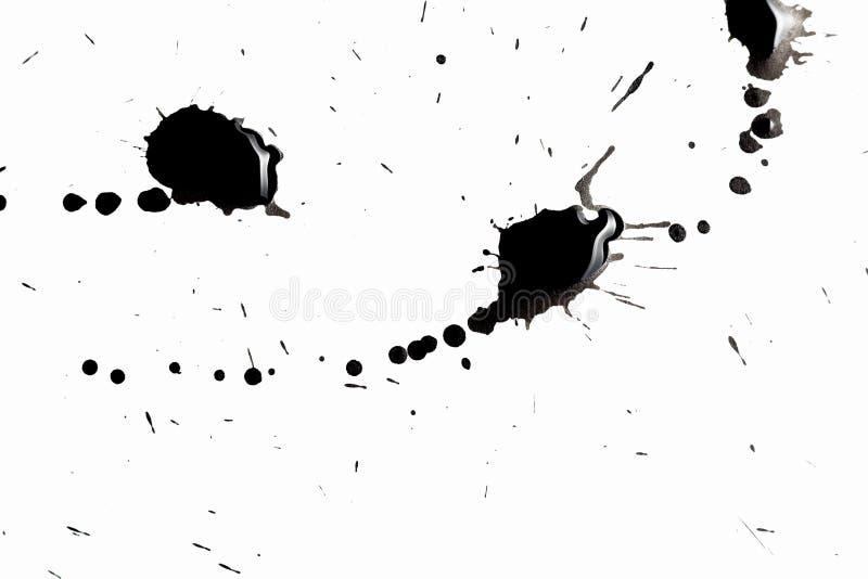 抽象黑色飞溅 库存例证