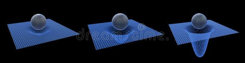 抽象黑色desgin几何漏洞幻觉例证光学形状 免版税库存照片