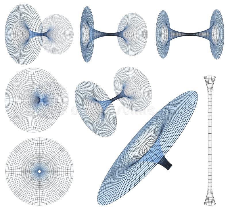 抽象黑色desgin几何漏洞幻觉例证光学形状 库存例证
