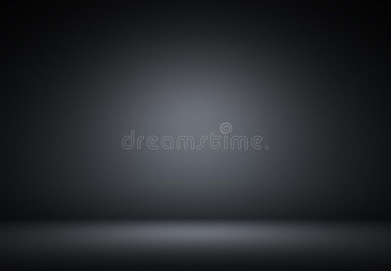 抽象黑豪华背景演播室背景-作为b的好的用途 向量例证