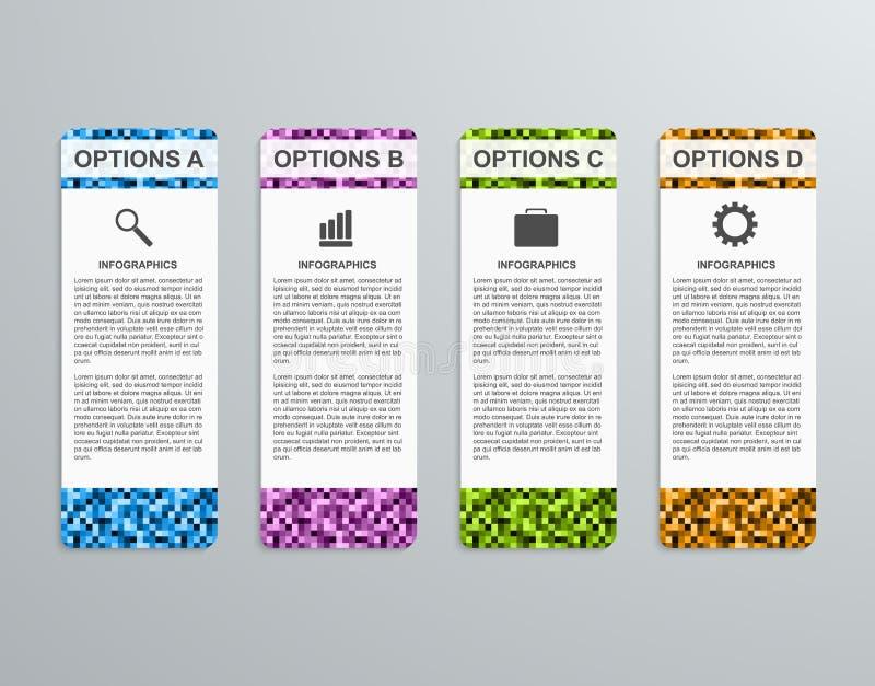 抽象3D企业选择纸infographics模板 向量例证