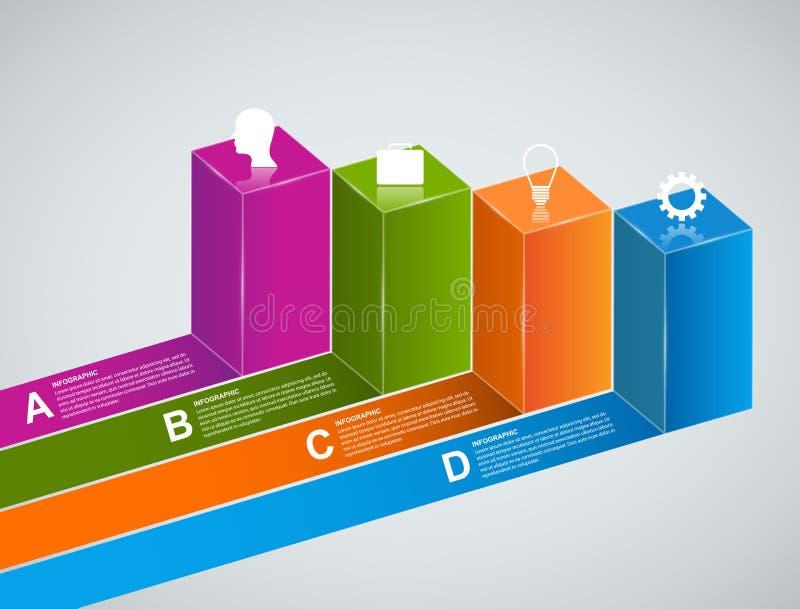 抽象3D企业选择infographics模板 皇族释放例证