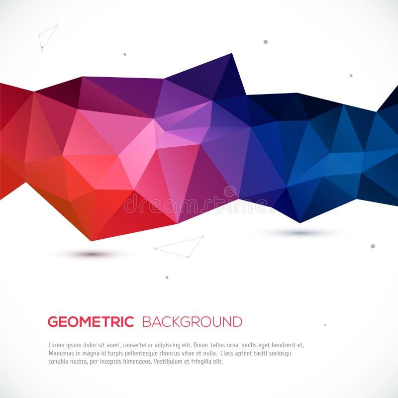 抽象3D几何五颜六色的背景。 皇族释放例证
