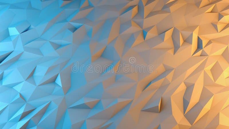 抽象3d回报背景 Techno三角低多 皇族释放例证